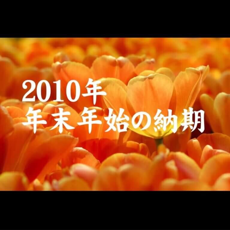 2010年末年始の予定